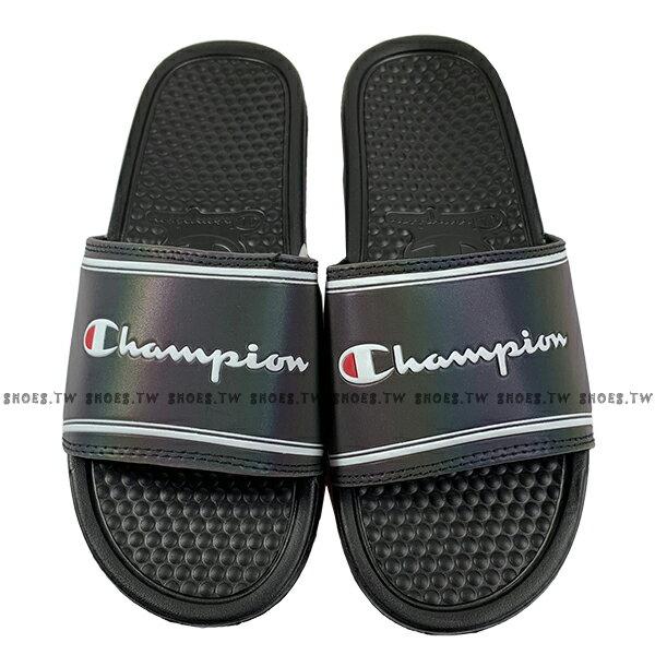 Shoestw【923250211】CHAMPION 拖鞋 運動拖鞋 雷射黑 黑白方框 男女尺寸都有 1