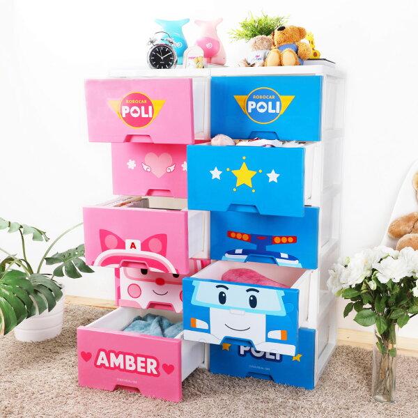 E&J【005117】卡通波力五層收納櫃(兩款可選);收納箱整理箱收納袋收納居家換季