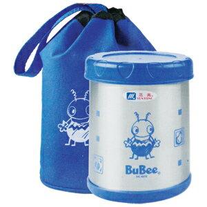三光牌小蟻布比 溫心 二層高真空不銹鋼飯盒 附提袋(M-700B)- 0.7L 粉紅/淺藍