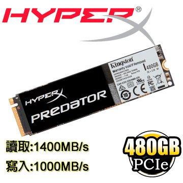 *╯新風尚潮流╭*金士頓 480GB HyperX Predator M.2 PCIe SSD 固態硬碟 SHPM2280P2/480G