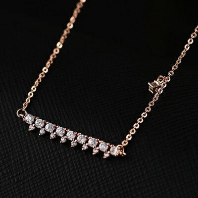 ~純銀項鍊 鍍18K金鑲鑽吊墜~亮眼 閃耀生日情人節 女飾品73dn58~ ~~米蘭 ~