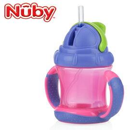 【悅兒樂婦幼用品舘】Nuby 360度雙耳彈跳吸管杯 210ml