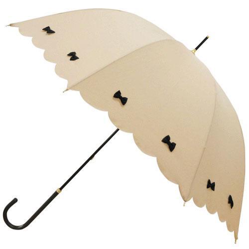 日本代購預購蝴蝶結遮陽傘雨傘直立傘晴雨兩用傘長傘單人傘用傘紙箱運送555-14121