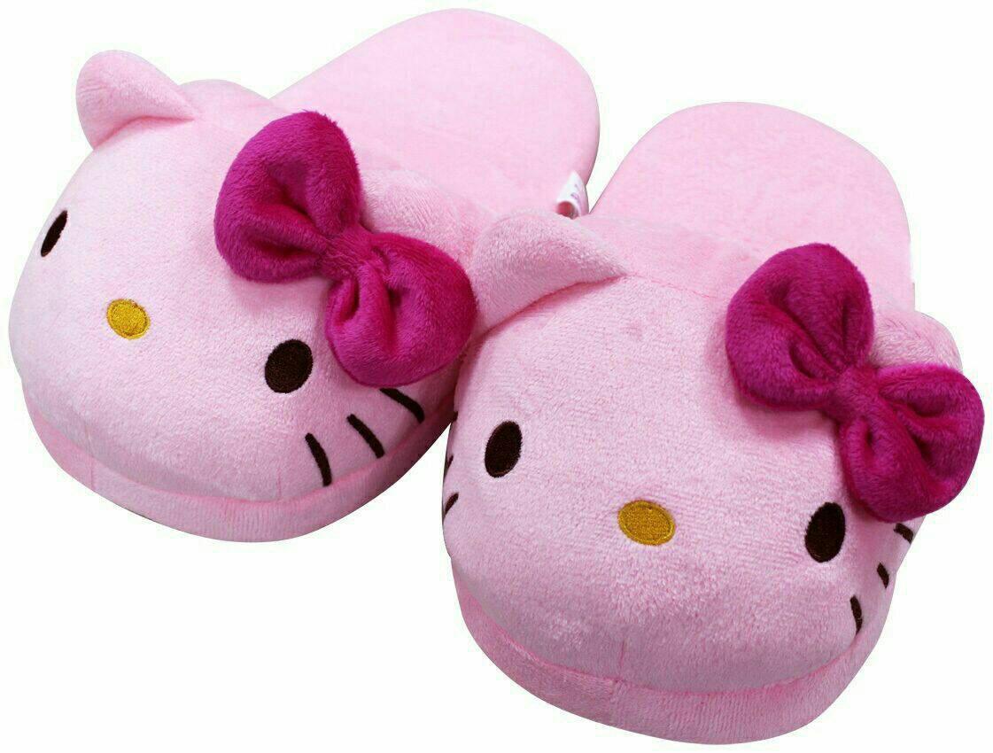 【UNIPRO】HELLO KITTY 凱蒂貓 粉紅頭型 保暖 室內拖鞋 毛拖 造型玩偶 保暖拖鞋 三麗鷗 正版授權 KT