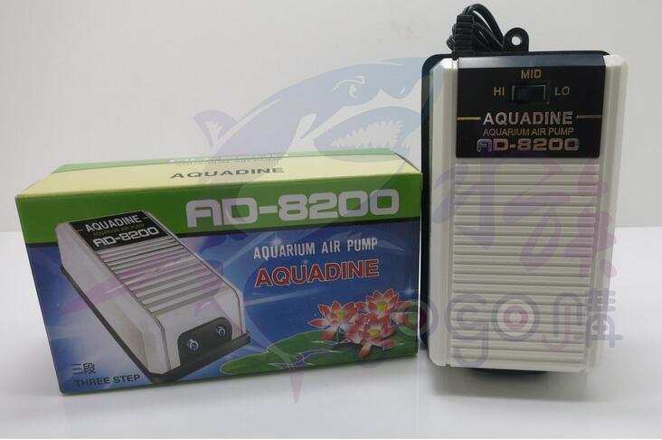 【水族嚇嚇叫】藍波 AD-8200 打氣幫浦 雙孔 3段式 低噪音 中大型魚缸適用