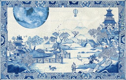 Blue Moon Crazed Poster Print by Colin Thompson (17 x 11) c7d8e989bac4e8955b0e28e4a0c93dc2