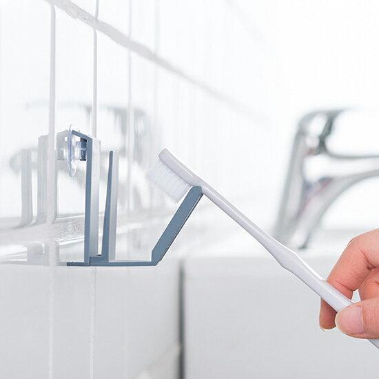 ●MY COLOR●簡易洗漱掛勾 漱口杯 牙刷架 無痕 帶吸盤 居家 辦公室 瀝水 方便 衛生 乾淨 廁所 浴室【J134】
