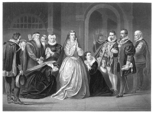 Mary Queen Of Scots N(1542-1587) The Last Moments Of Mary Queen Of Scots From The Drama Maria Stuart Written In 1800 By Johann Christoph Friedrich Von Schiller (1759-1805) German Poet And Playwright S