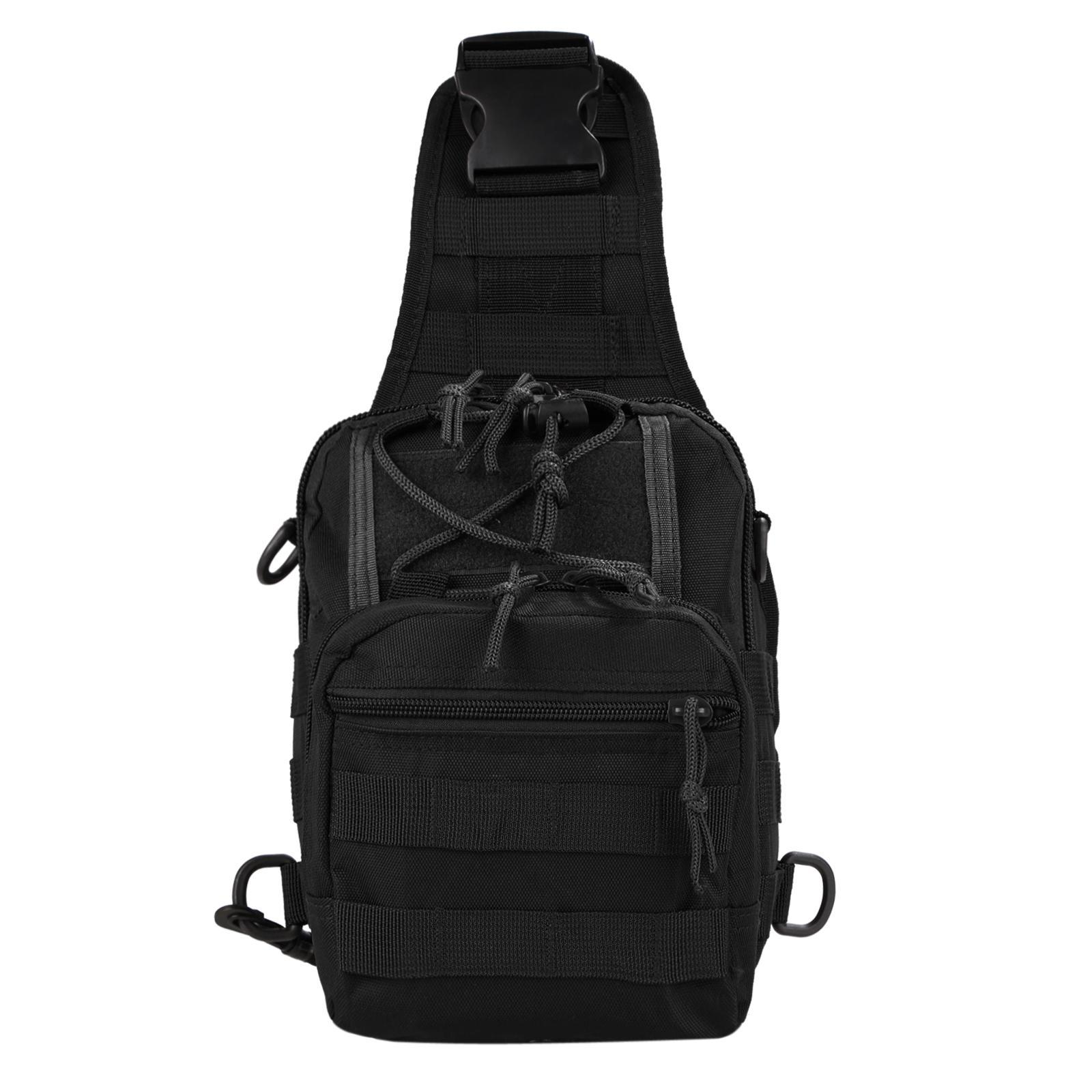 Canvas Multifunction Outdoor Casual Chest Pack Shoulder Bag 1