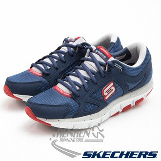 SKECHERS 女 慢跑健走鞋(海軍藍*紅) 智慧生活系列 記憶型泡棉鞋墊