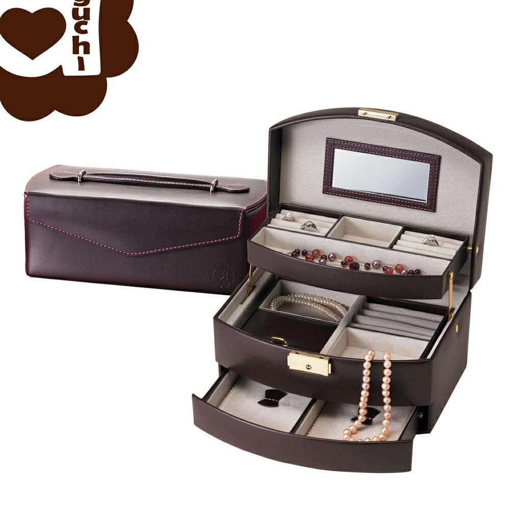 【亞古奇 Aguchi】皇家英倫雙組合-貴族棕 珠寶盒(氣質貴族系列) - 手工精品時尚設計珠寶盒/戒盒/耳環盒 0