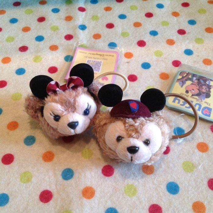 =優生活=【大版特價$120】日本迪士尼Duffy熊 Shelliemay牛仔米妮達菲熊雪莉梅造型髮圈 髮飾 非兒童小版