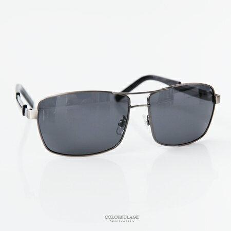 偏光墨鏡 復古金屬方形塑膠腳架 鏡片太陽眼鏡 抗UV400 台灣製造 柒彩年代【NY324】單支價格 - 限時優惠好康折扣