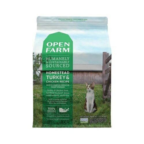 Open Farm開放農場 田野嫩雞與火雞4LB.維護眼睛保健.貓糧