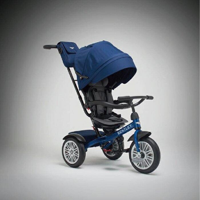 *babygo*賓利Bentley 嬰幼兒豪華三輪手推車-藍色 原廠授權