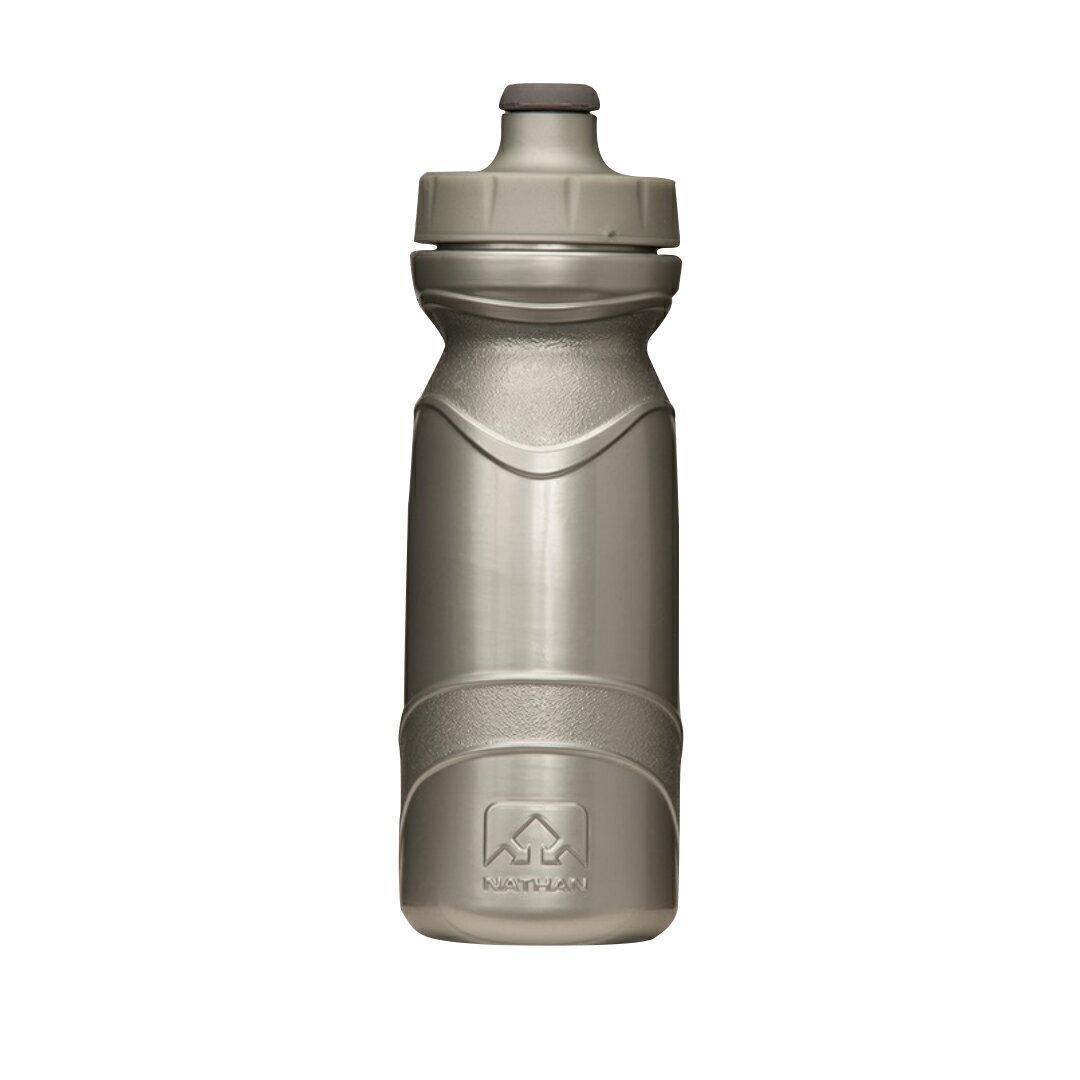 騎跑泳(勇)者-NATHAN 650ml水瓶(銀色),適Triangle/NA4465NB 水壺腰包,自行車水壺架.