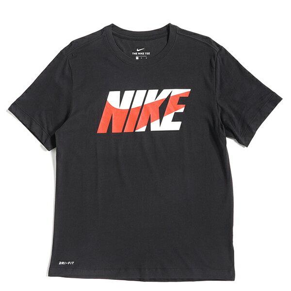 Shoestw【AR6028-010】NIKE 短袖 T恤 短袖上衣 棉質 DRI FIT 黑色 白紅LOGO 2