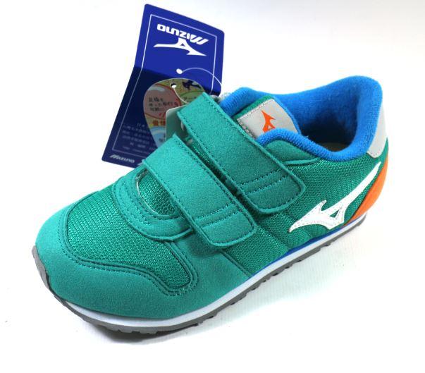 [陽光樂活] MIZUNO 美津濃 童鞋 小童布鞋 RUN KIDS - K1GD163301 湖水綠