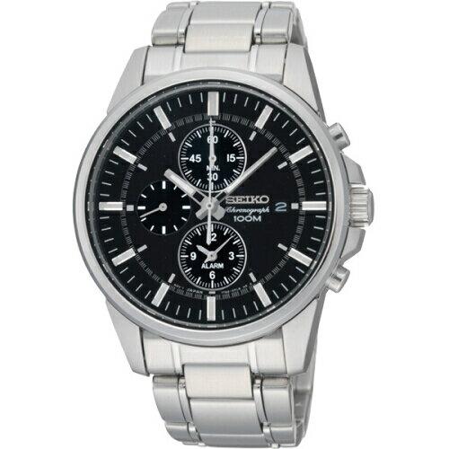 SEIKOCS都會型男三眼計時腕錶黑面40mmSNAF03P1(7T62-0LD0D)