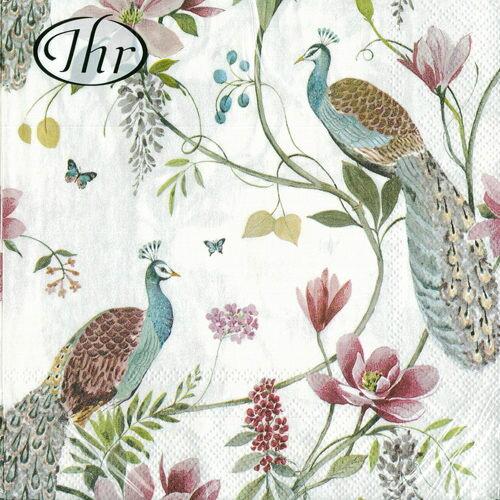 孔雀花園-德國IHR餐巾紙(33x33cm)