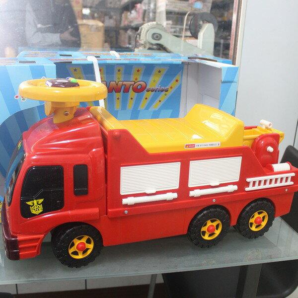 GRANTO可乘坐消防車玩具新DS-200兒童座騎(IC音樂)一台入{促2500}~全新~