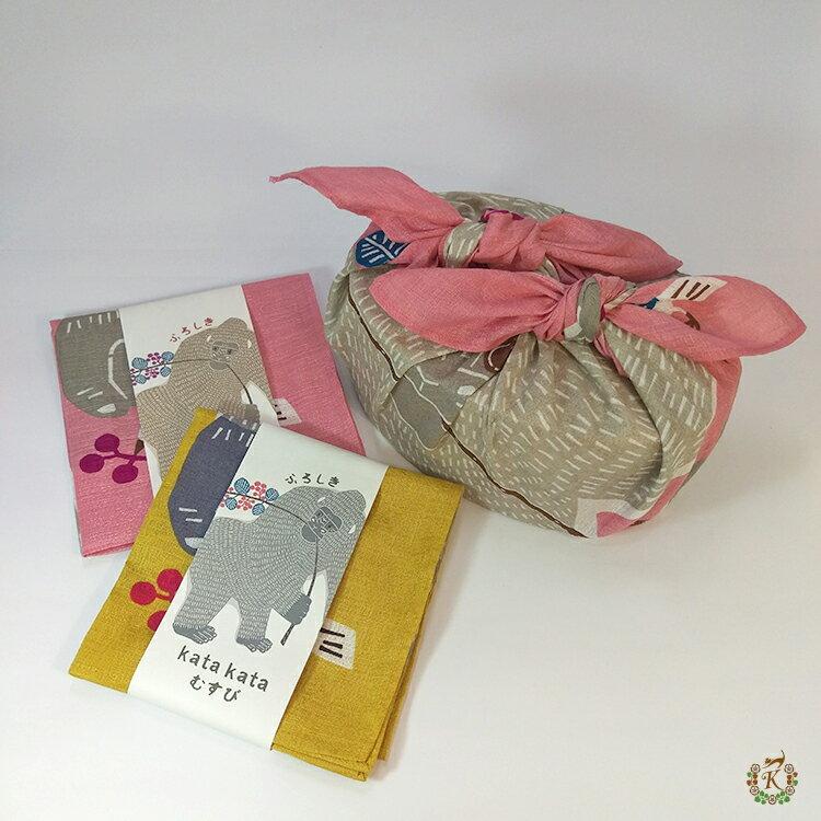日本製手拭巾包巾➜kata kata【猩猩帶著小鳥去散步】