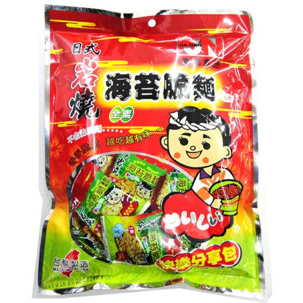嘉南食品 日式岩燒海苔脆麵(素食) 240g (15入)/箱【康鄰超市】