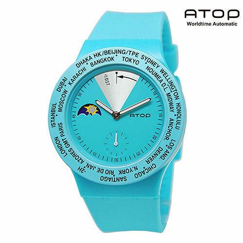 【愛瘋潮】ATOP|世界時區腕錶-24時區經典系列 / 蒂芬妮綠