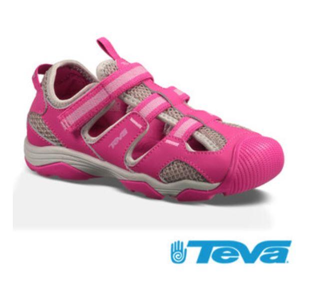 TEVA女童護趾避震耐磨抗菌防臭運動涼鞋 TV110011JPKG 粉色[ 陽光樂活 ]