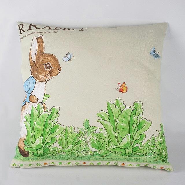 《Annie's Friends》Peter Rabbit 比得兔抱枕【活潑跑兔】