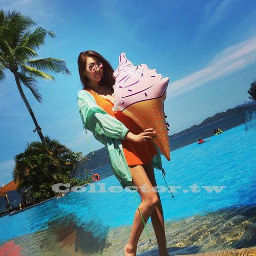 【C16080402】女神專用-旋轉甜筒冰淇淋大型泳圈 80公分 游泳圈 浮板 漂浮板