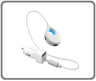 Innergie 台達電 PowerCombo Go Hub 1+3延長型智能USB極速車充 9.6A大電流輸出1+3孔各2.4A大電流輸出,充電更快速智慧偵測提醒