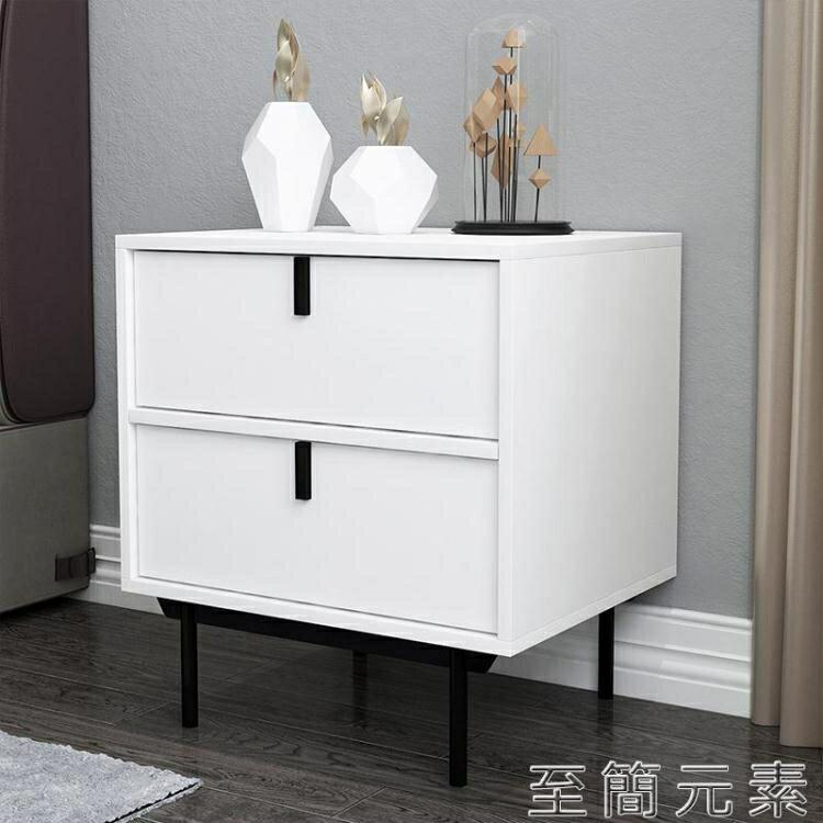 現代簡約床頭櫃輕奢臥室小型迷你整裝床邊櫃奢華型儲物收納小櫃子 創時代3C 交換禮物 送禮