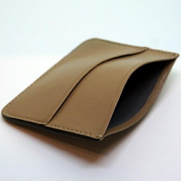 駱駝色【小羊皮證件票卡套】 同時收納紙鈔證件名片 時尚穿搭小單品