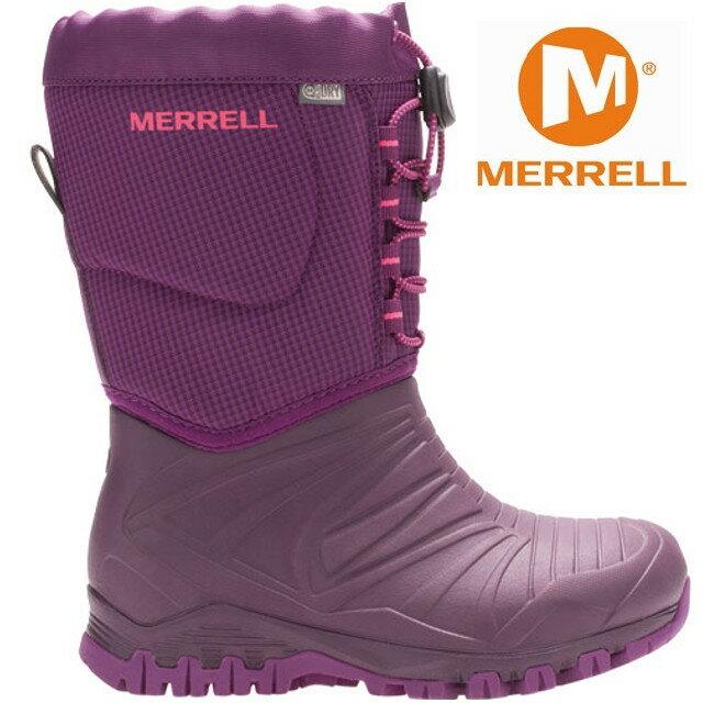 Merrell 兒童雪靴/兒童雪鞋/兒童靴子/防水透氣/滑雪/旅遊 MLC55594  女童紫色