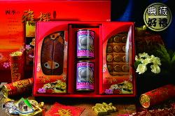 【野味食品】四季雅撰春節特選(日本北海道M級干貝柱+台灣海捕野生烏魚子+新美輪澳洲鮑魚罐頭)(附贈年節禮盒、禮袋)(春節禮盒,傳統禮盒,年貨禮盒)