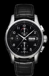 Hamilton 漢米爾頓 JazzMaster 時尚達人計時機械腕錶 H32716839 黑 45mm