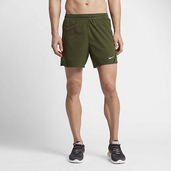 NIKE AEROSWIFT 男裝 短褲 運動 慢跑 排汗 墨綠色【運動世界】717882-331