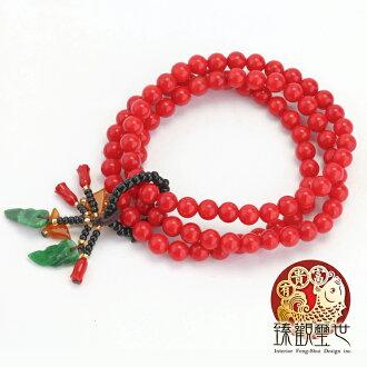 【限量39折 滿額折百】佛珠 青春亮麗的紅珊瑚佛珠手鍊 祈福 臻觀璽世 IS0419