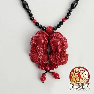 【限量39折 滿額折百】貔貅 狂銷紅珊瑚貔貅串珠項鍊 開光 臻觀璽世 IS0518