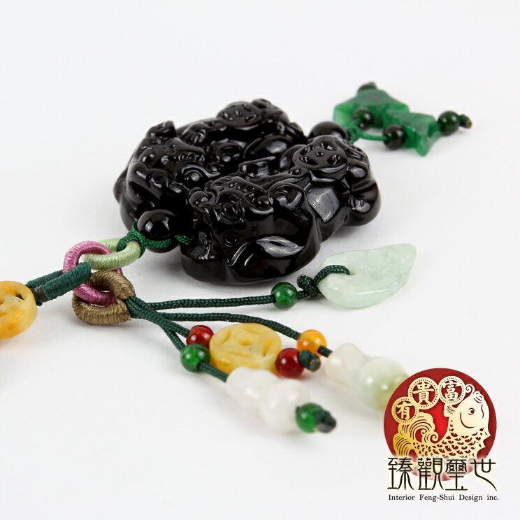 貔貅 黑曜石精緻雕工貔貅吊飾 含開光 臻觀璽世 IS0916