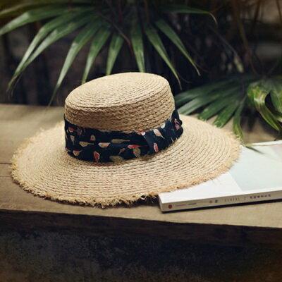 草帽手工編織大簷帽-戶外時尚渡假休閒女遮陽帽73si80【獨家進口】【米蘭精品】