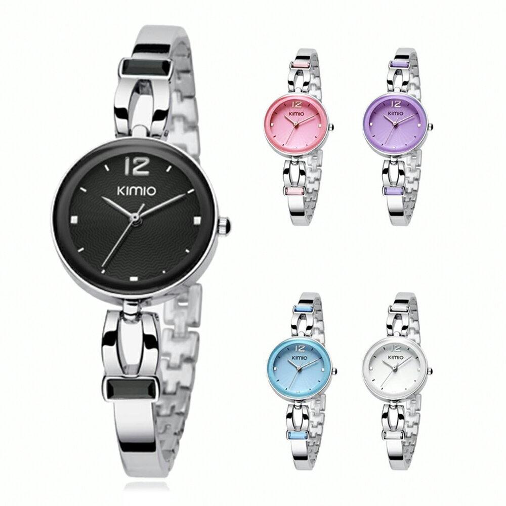 KIMIO 金米歐 K-466 簡約時尚氣質百搭圓款手鍊女錶