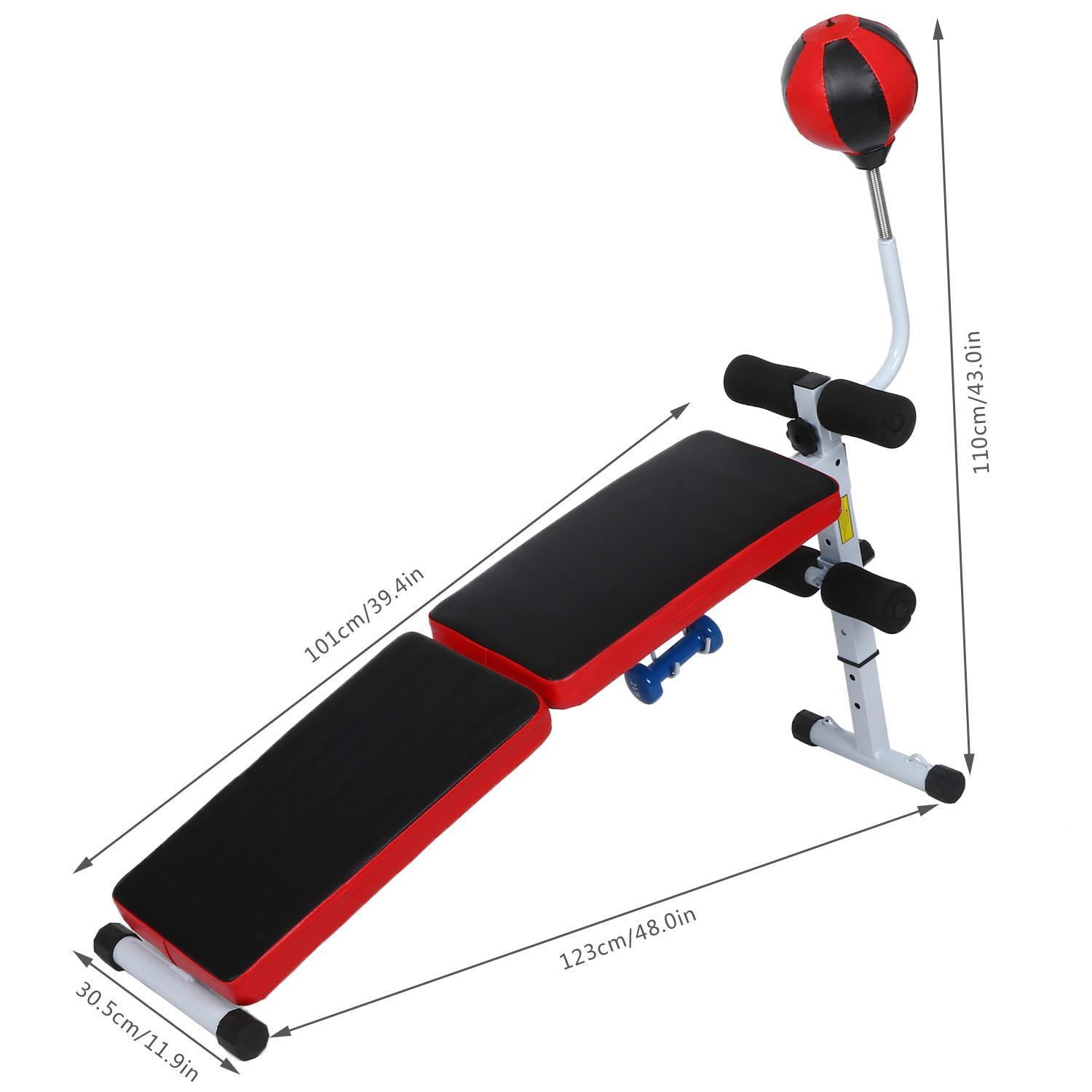 Fully Adjustable Folding Gym Weight Bench Fitness Dumbbell With Speed Ball 1