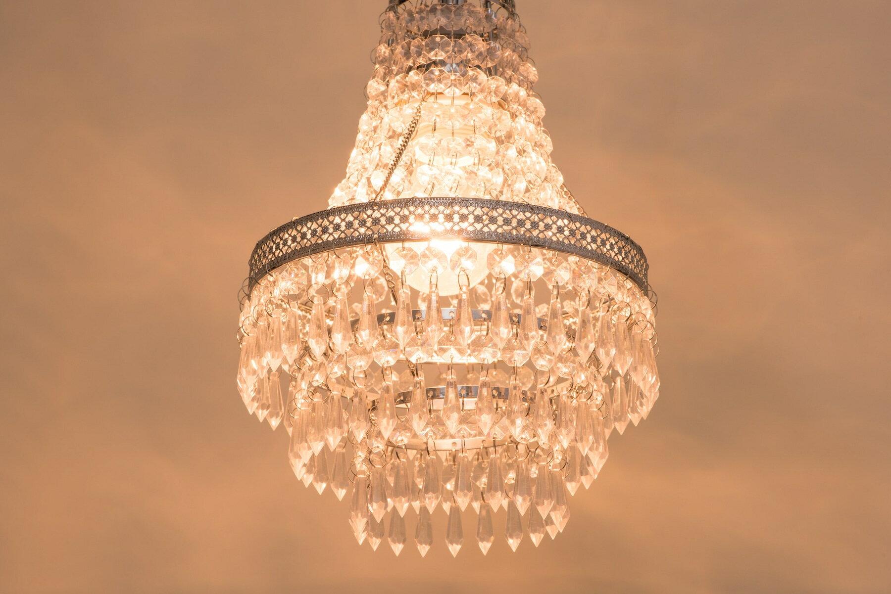 鍍鉻色華麗透明壓克力珠吊燈-BNL00022 6