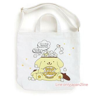 【真愛日本】4901610702895 兩用帆布提袋-PN+AAG 三麗鷗家族 布丁狗 手提包包 預購