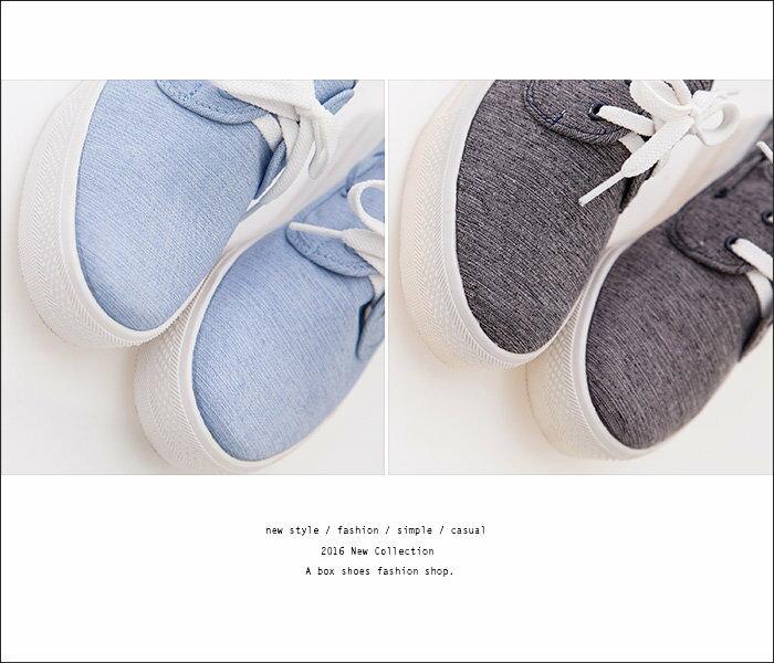 ★399免運★格子舖*【KD883A】MIT台灣製 嚴選韓版簡約時尚刷色牛仔帆布 綁帶3CM增高厚底包鞋 帆布鞋 鬆糕鞋 2色 2