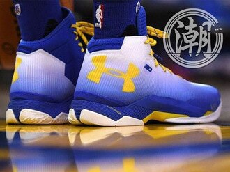 Under Armour UA Curry 2.5 專屬配色 白藍黃 男鞋 籃球鞋【T0033】潮