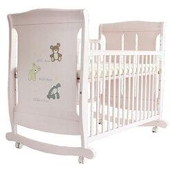 L.A. Baby 美國加州貝比 芝加哥搖擺大床/童床/木床/嬰兒床(玫瑰粉色)063P★衛立兒生活館★