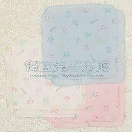 ★衛立兒生活館★【 Aprica】幸福印花紗布手帕/水藍/白/粉紅